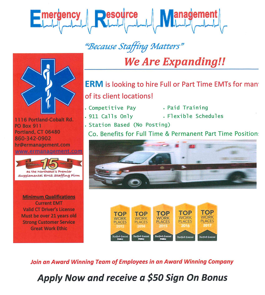 Connecticut EMS Staffing | EMT Employment and Training